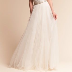 BHLDN Catherine Deane Delphi Tulle Skirt in Ivory